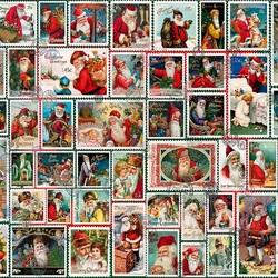 Пазл онлайн: Марки к Рождеству