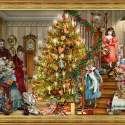 Пазл онлайн: Рождество - семейный праздник