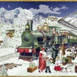Пазл онлайн: Рождественский экспресс