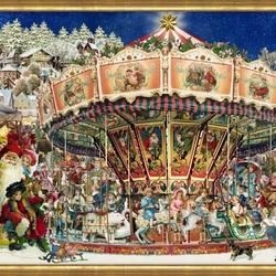 Пазл онлайн: Рождественская карусель