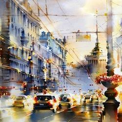 Пазл онлайн: Огни Петербурга
