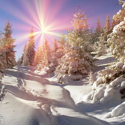 Пазл онлайн: Первый день зимы