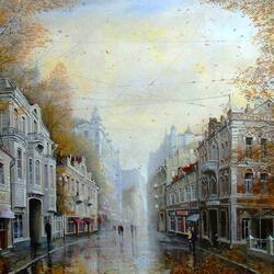 Пазл онлайн: Дождливый день в октябре