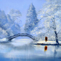 Пазл онлайн: Синее Рождество