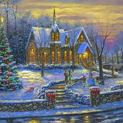 Пазл онлайн: Рождественские колокола