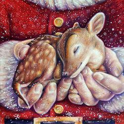 Пазл онлайн: Рождественский олень