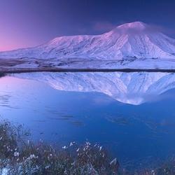 Пазл онлайн: Заснеженная гора