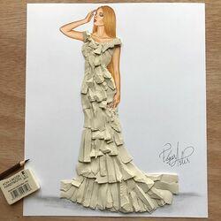 Пазл онлайн: Платье из ластика