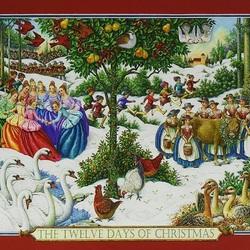 Пазл онлайн: Двенадцать дней Рождества