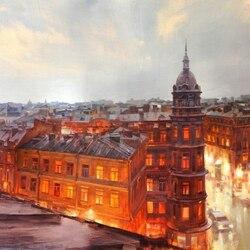 Пазл онлайн: Крыши Петербурга