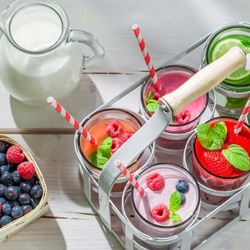 Пазл онлайн: Молочные коктейли