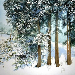 Пазл онлайн: Все в снегу