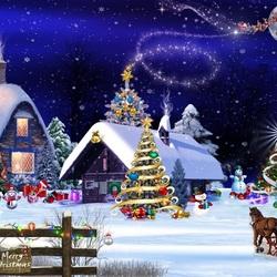 Пазл онлайн: Веселого Рождества
