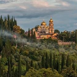 Пазл онлайн:  Новоафонский монастырь