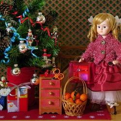 Пазл онлайн: Новогодние игрушки