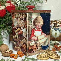 Пазл онлайн: Короб для печенья