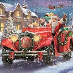 Пазл онлайн: Санта в пути
