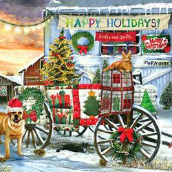 Пазл онлайн: Веселых праздников!