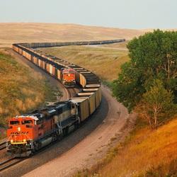 Пазл онлайн: Два поезда