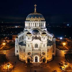 Пазл онлайн: Морской собор в Кронштадте