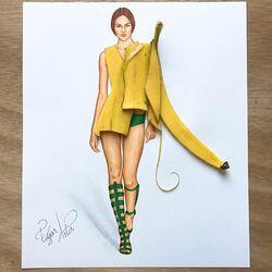 Пазл онлайн: Банановая мода