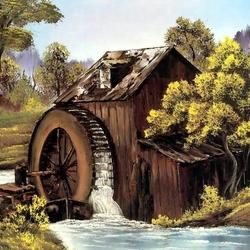 Пазл онлайн: Старая водяная мельница