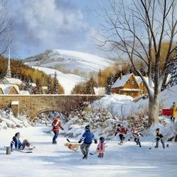Пазл онлайн: Игра в хоккей