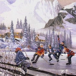 Пазл онлайн: Юные хоккеисты