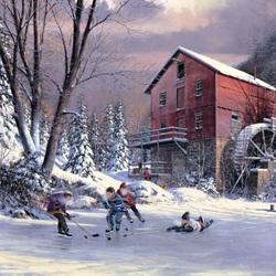 Пазл онлайн: На замерзшей реке