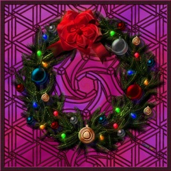 Пазл онлайн: Праздничный венок