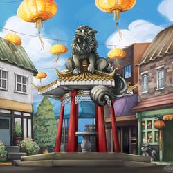 Пазл онлайн: Китайский квартал