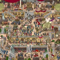 Пазл онлайн: Приключения в музее