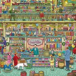 Пазл онлайн: Магазин сладостей и игрушек