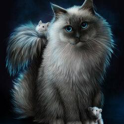 Пазл онлайн: Кот и мыши