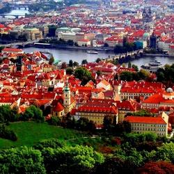 Пазл онлайн: Красные крыши Праги