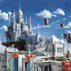 Пазл онлайн: Небесный храм