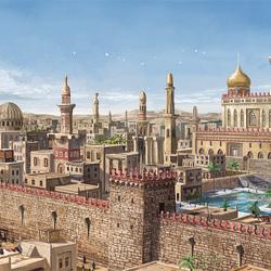 Пазл онлайн: Город-оазис