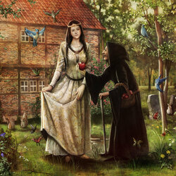 Пазл онлайн: Белоснежка и ведьма