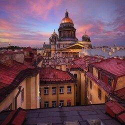 Пазл онлайн: Петербургские крыши