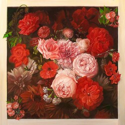Пазл онлайн: Квадрат цветов