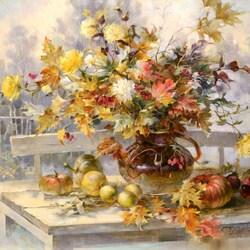Пазл онлайн: Осенние строки