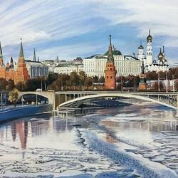 Пазл онлайн: Ранняя весна в Москве