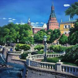 Пазл онлайн: Арсенальная башня Кремля