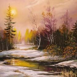 Пазл онлайн: Зимний лес