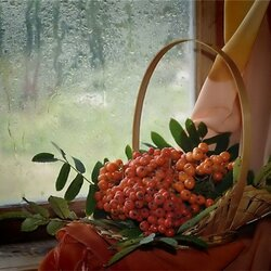 Пазл онлайн:  За окном  дождь