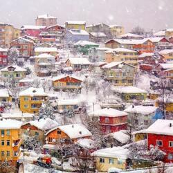 Пазл онлайн: Зима пришла