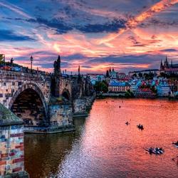 Пазл онлайн: Закат в Праге