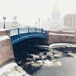 Пазл онлайн: Синий мост. Метель
