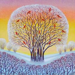 Пазл онлайн: Зимнее дерево