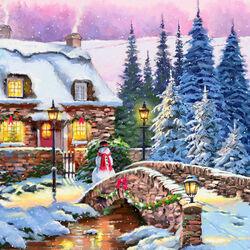Пазл онлайн: Святая Рождественская ночь